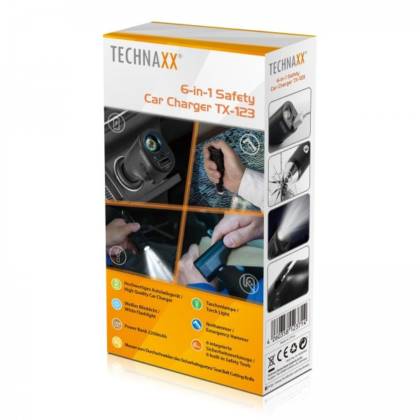 Technaxx 6-in-1 Safety Car Charger TX-123