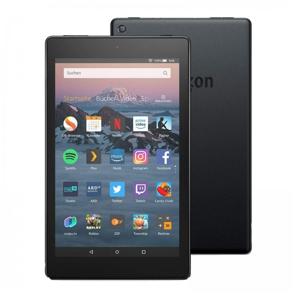 "Amazon All-New Fire HD  8, Hands-  Free with Alexa,  8"" HD Display, 16  GB, Black - with  Special Offers"