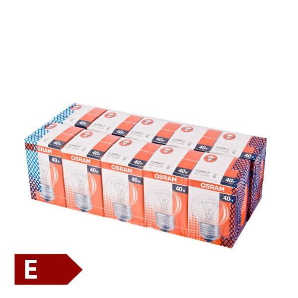 Osram 10er Set Glühbirnen Classic p 40w e27 Miniball form