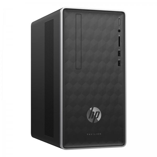 HP Pavilion 590-p0372ng ash silver/ Ryzen5-2400G / 8GB / 128GB SSD + 1TB HDD / DVD / Nvidia GT 1030-2GB / Win10