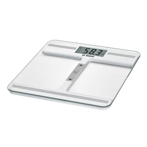 Bosch PPW4212 Personenwaage weiß/silber BMI XXL Display Extra flach Bis 180kg
