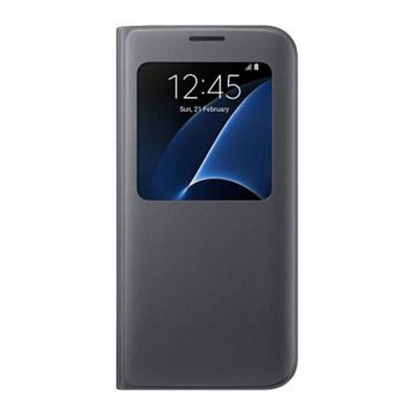 Samsung EF-CG935 S-View Cover für Galaxy S7 Edge schwarz