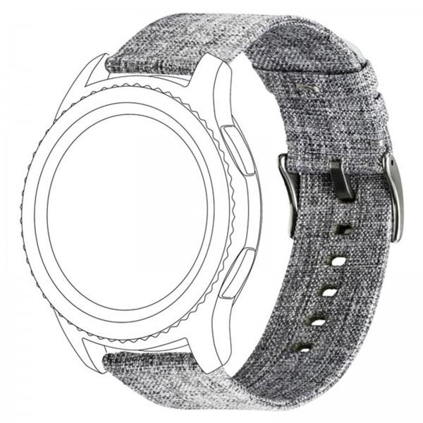 topp Nylon Armband für Samsung Galaxy Watch S3 grau