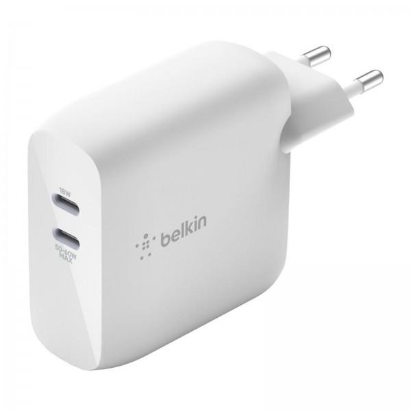 Belkin Boostcharge USB-C PD 63W GaN Ladegerät 2 Steckplätze