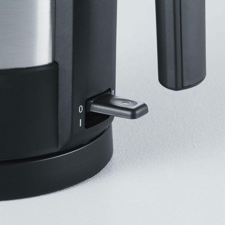 Severin WK 3369 Edelstahlwasserkocher mit Temperaturregler schwarz silber