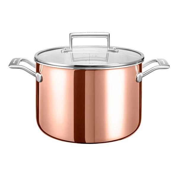 KitchenAid Koch- und Suppentopf mit Deckel KC2P80SCCP Kupfer 24 cm