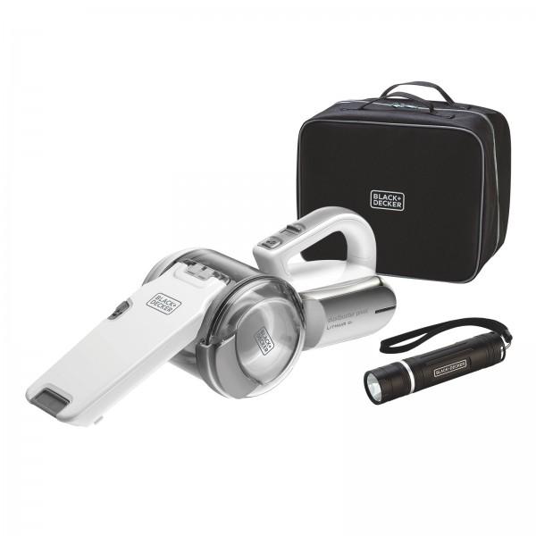 BLACK + DECKER PV1820LAKIT 27Wh Lithium Pivot Auto Akku-Handsauger mit Taschenlampe und Tasche