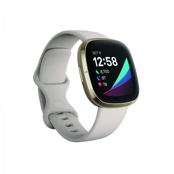 Fitbit Sense Lunar White/ Soft Gold