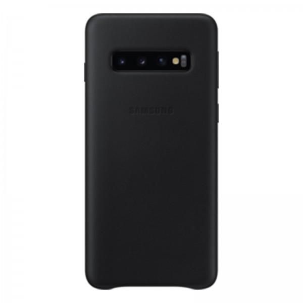Samsung EF-VG973 Leder Cover für Galaxy S10 schwarz