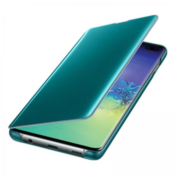 Samsung EF-ZG975 Clear View Cover für Galaxy S10+ schwarz