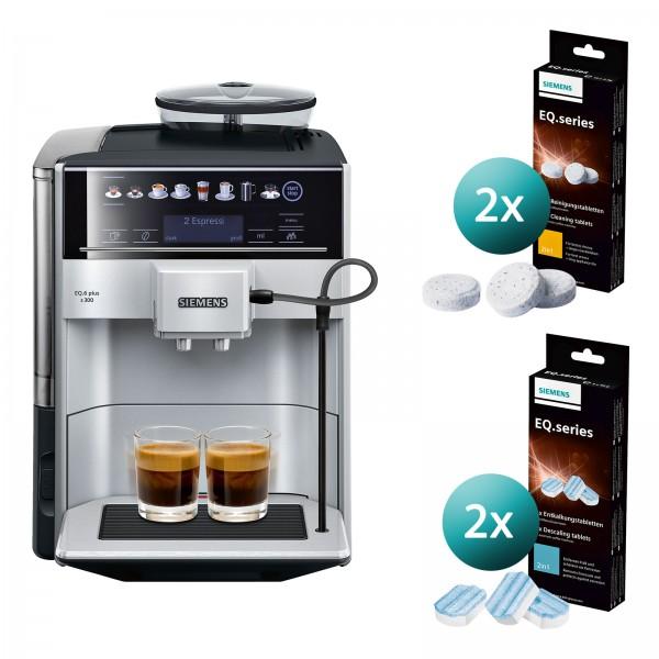 Siemens TE653501DE EQ 6 Kaffeevollautomat inkl. Reinigungskapseln