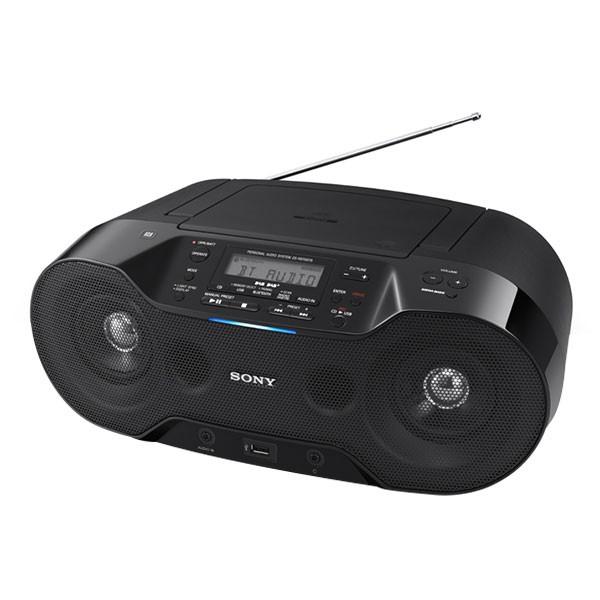 Sony ZSRS70BTB.CED Digitales CD-Audiosystem Boombox Bluetooth DAB/DAB+ schwarz