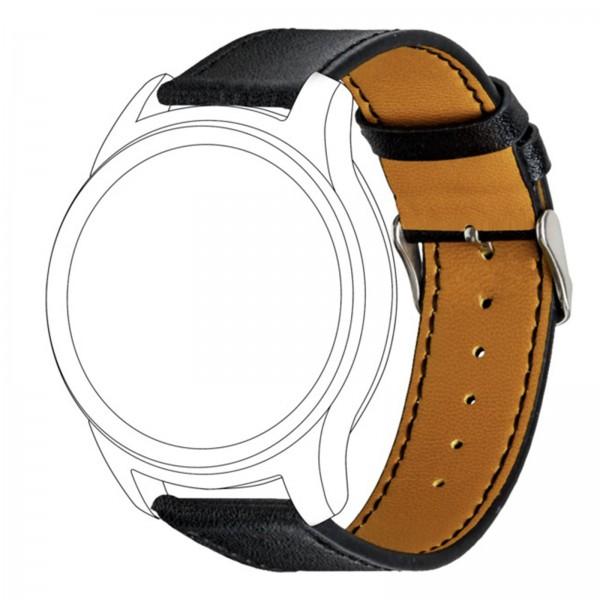 topp Leder Armband für Garmin vivomove/vivoactive3 schwarz