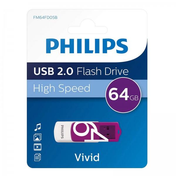 Philips USB 2.0 Vivid 64GB purple