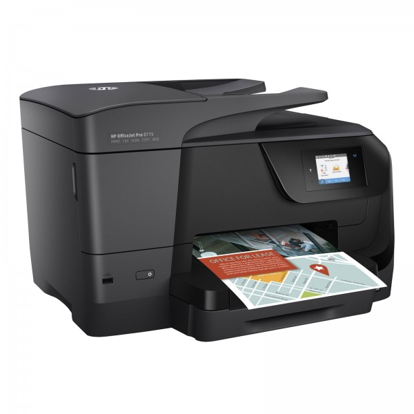 HP OfficeJet 8715 PRO EU- WARE E-All-in-One, Wlan, Duplex, Instant Ink, Schwarz
