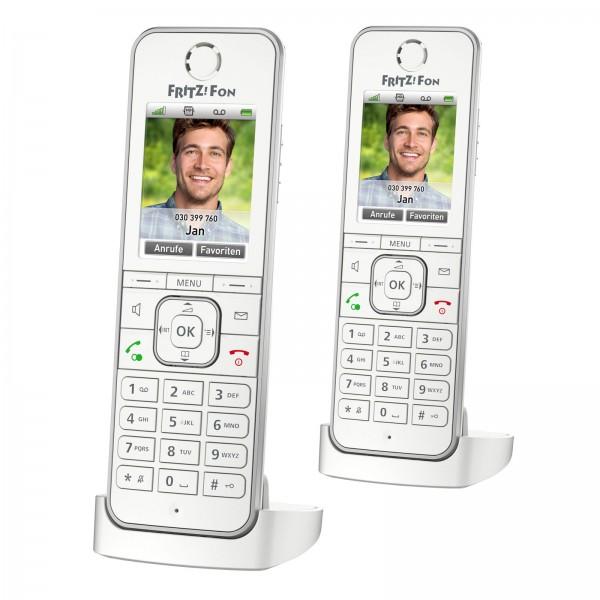 2x AVM FRITZ!Fon C6 IP DECT-Komforttelefon Smart Home FritzBox Anrufbeantworter