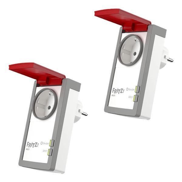 2x AVM FRITZ!DECT 210 Intelligente Steckdose für Smart Home