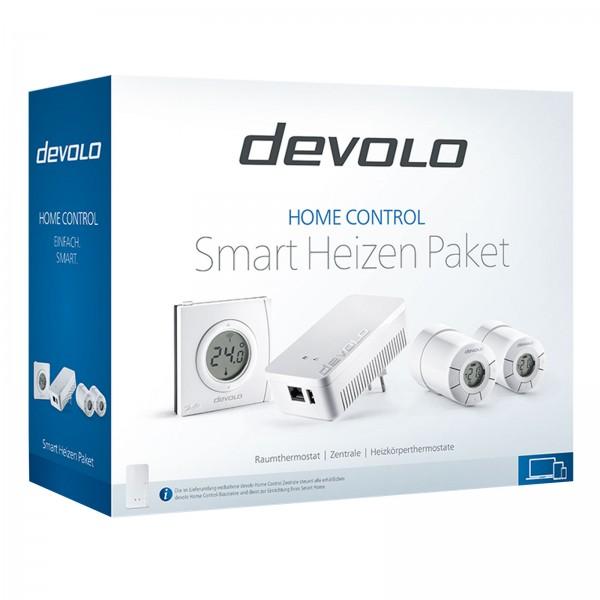 devolo Home Control Smart Heizen Paket (Funk Heizungssteuerung, Smarthome Thermostat, Z-Wave Hausaut