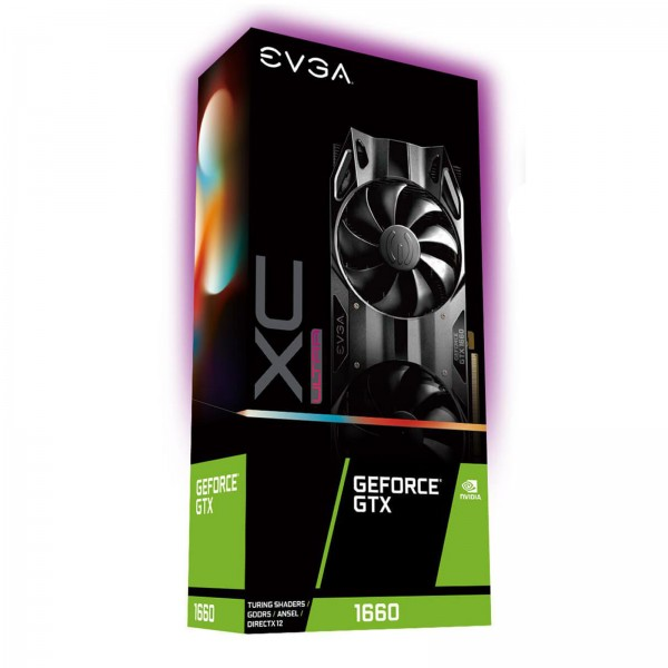 EVGA GeForce GTX 1660 XC Ultra Grafikkarte (6GB GDDR5,DP,HDMI.DVI)