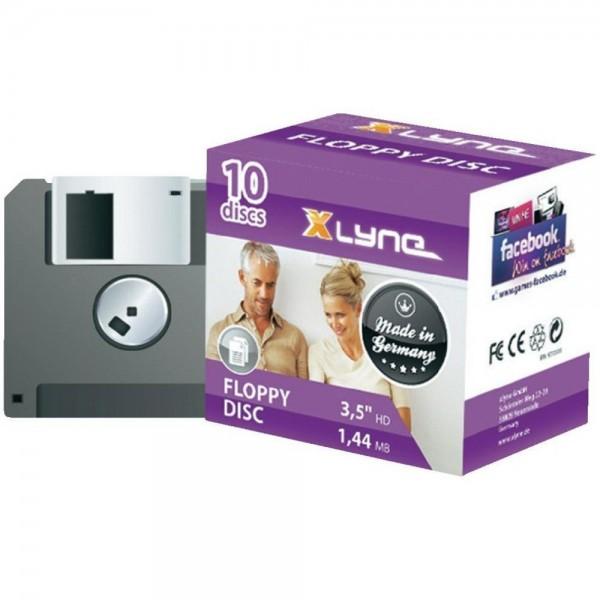 """Xlyne 3,5"""" Disketten 1,44MB 10er Pack Floppy Disk"""