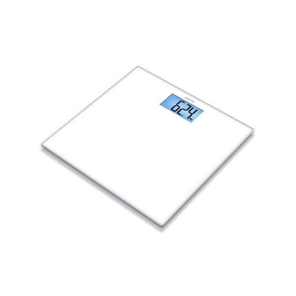 Sanitas SGS 03 Glaswaage LCD-Beleuchtung 150 kg Tragkraft Ein- und Abschaltau