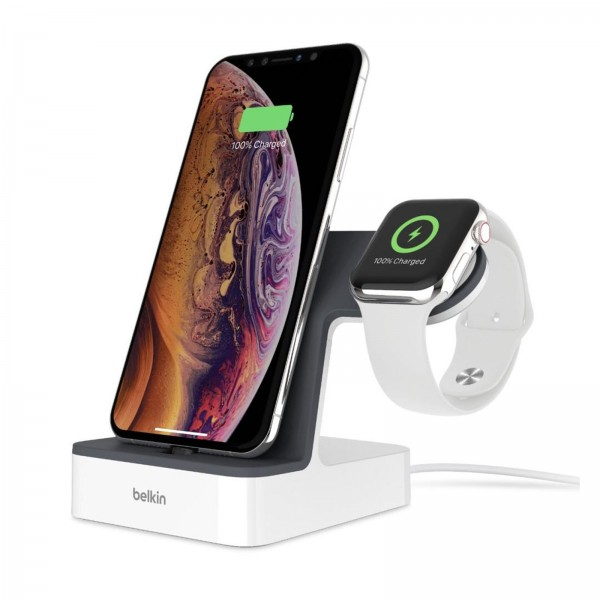 Belkin Powerhouse Charge Dock für Apple Watch weiß