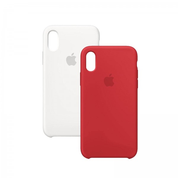 Apple iPhone XS Silikon Case weiß
