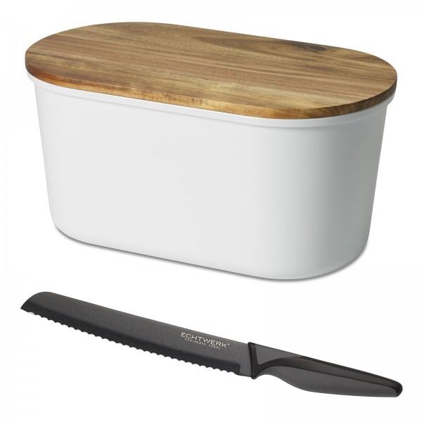 Echtwerk Brotbox Fresh + BlackSteel Brotmesser