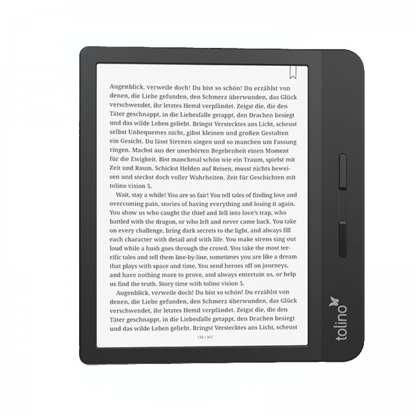 Tolino Vision 5 HD / 7 Zoll E Ink Carta Display (1264x1680 Pixel) / 6 GB für bis zu 6000 eBooks /