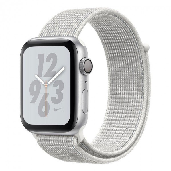 Telekom Apple Watch 4 Nike+ LTE 44mm Alu Silber, Loop Summit White