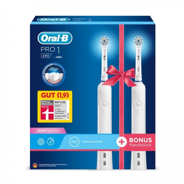 BRAUN Oral-B Pro 1 290 Duopack Zahnbürste White