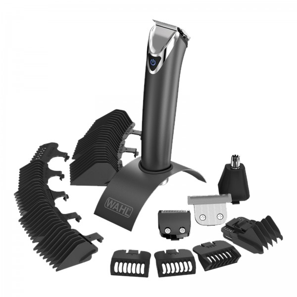 Wahl 9864-016 Lithium-Ion+ ADVANCED Stainless Steel Trimmer Edelstahl/schwarz