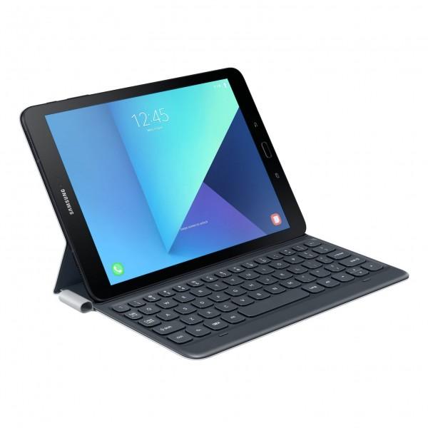 Samsung (EJ-FT820BSEGDE) Keyboard Book Case mit Tastatur für Tab S3, DunkelGrau