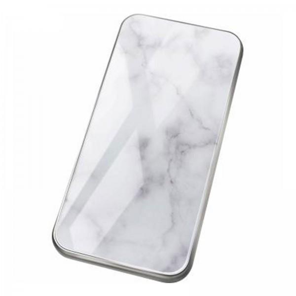 """felixx Glas Powerbank mit LED Anzeige """"White Stone"""" 8.000 mAh"""