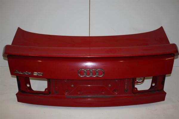 Audi 80 B4 Limousine Heckklappe + Spoiler rot 8A5827023E