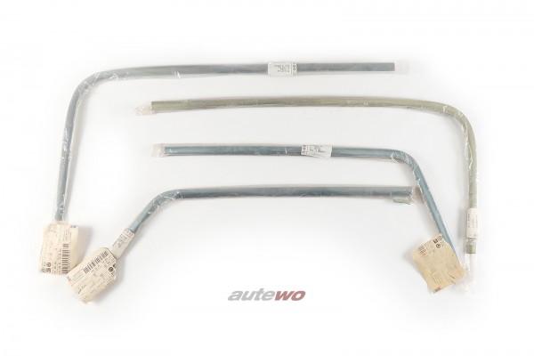 NEU Audi 80 Typ 81 Set Zierleisten verchromt original Heckscheibe