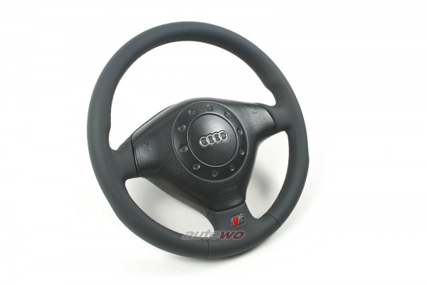 #4A0419091BA NEUBEZUG Audi 100/S4 C4/A4/S4 B5 3-Speichen-Leder-Airbag-Lenkrad
