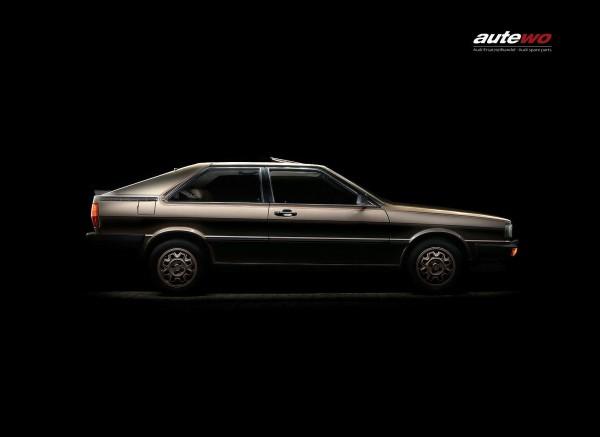Leinwand-Druck Motiv Audi Coupe Typ 81 Gold Edition Holzkeilrahmen 40x60cm