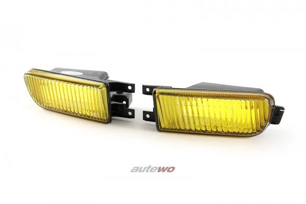 4A0941723A/4A0941724A NEU Audi 100 C4 Set Nebelscheinwerfer Gelbglas