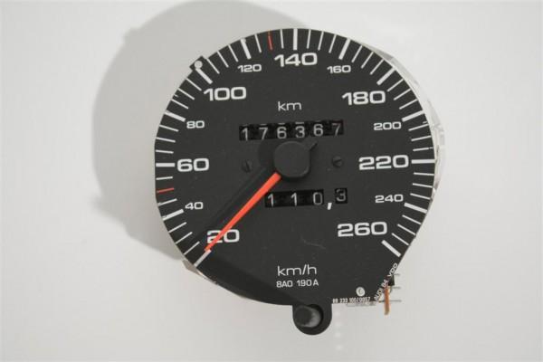 Audi 80 B4Tacho 260 km/h Hersteller VDO 8A1957031A 8A0190A