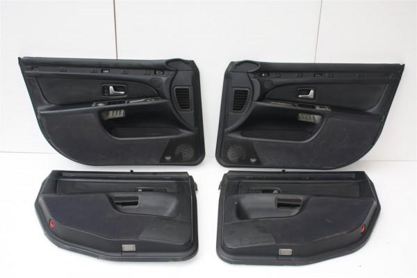 Audi A8 D2 Türverkleidungen inkl. Sonnenrollos Leder Vorne/Hinten Links/Rechts schwarz