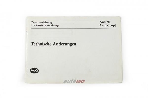 Audi 90/Coupe Typ 89 Zusatzanleitung, technische Änderungen Ausgabe 1.90