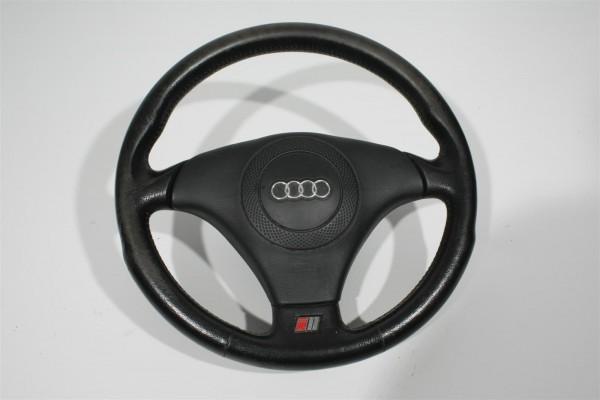 Audi A4 B5/A6 4B/A8 D2 3-Speichen-Sportlenkrad Leder schwarz 4B0419091G