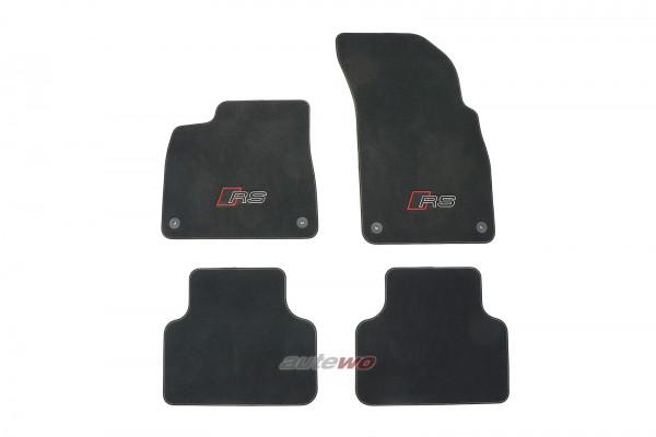 4M1863011H NEU Audi Q8/SQ8/RSQ8 4M Fußmattensatz RS-Logo graue Naht
