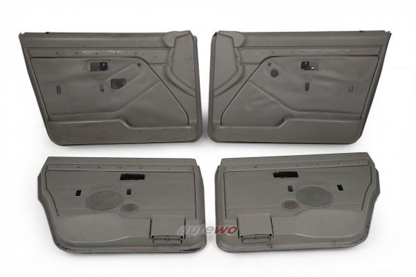 Audi 100/200 Typ 44 4x Türverkleidungen Leder Platin Grau