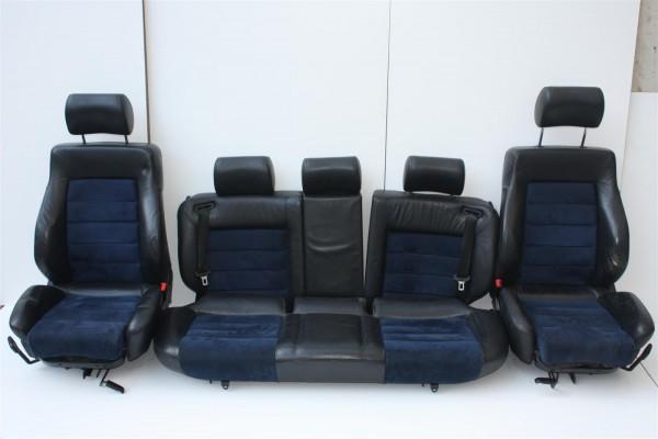 Audi 100/S4/A6/S6 C4 Avant Innenausstattung Leder schwarz/Alcantara blau + Sitzh