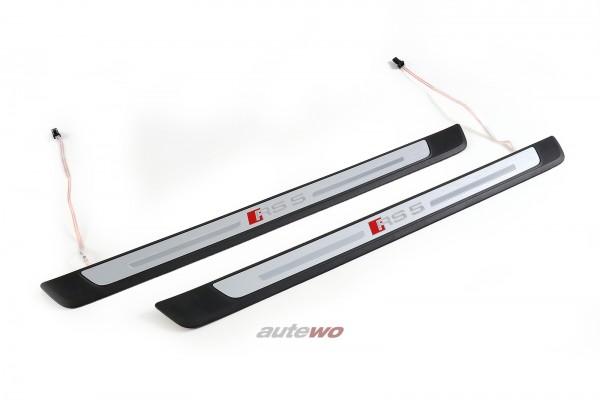 8W0947417C/8W0947418C NEU Audi RS5 F5 Sportback Einstiegsleisten Beleuchtet
