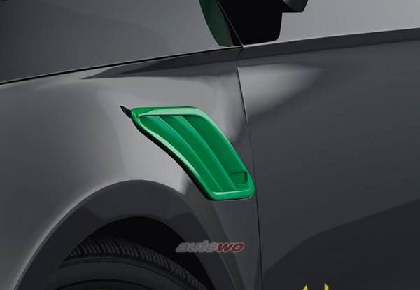 ABT Sportsline Kotflügeleinsätze Audi A1 8X Grasgrün 8X0801250GG