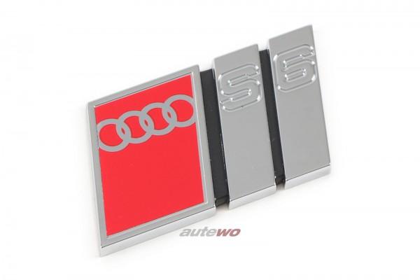 4A5853736C NEU Audi S6 C4 Schriftzug Kühlergrill S6