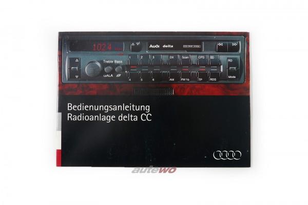 Audi 80 B4/Coupe/Cabrio 89/100/S4/A6/S6 C4/A8 Bedienungsanleitung Radio delta